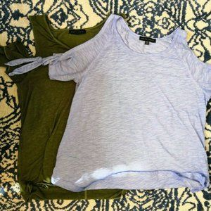 Sanctuary Lot of 2 Cold Shoulder T-shirt Small